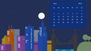 Beautiful June 2019 Calendar Wallpaper
