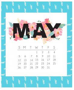 Beautiful May 2019 Calendar Template