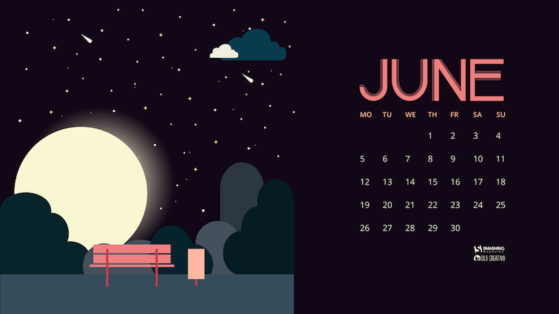 Calendar Wallpaper For June 2019