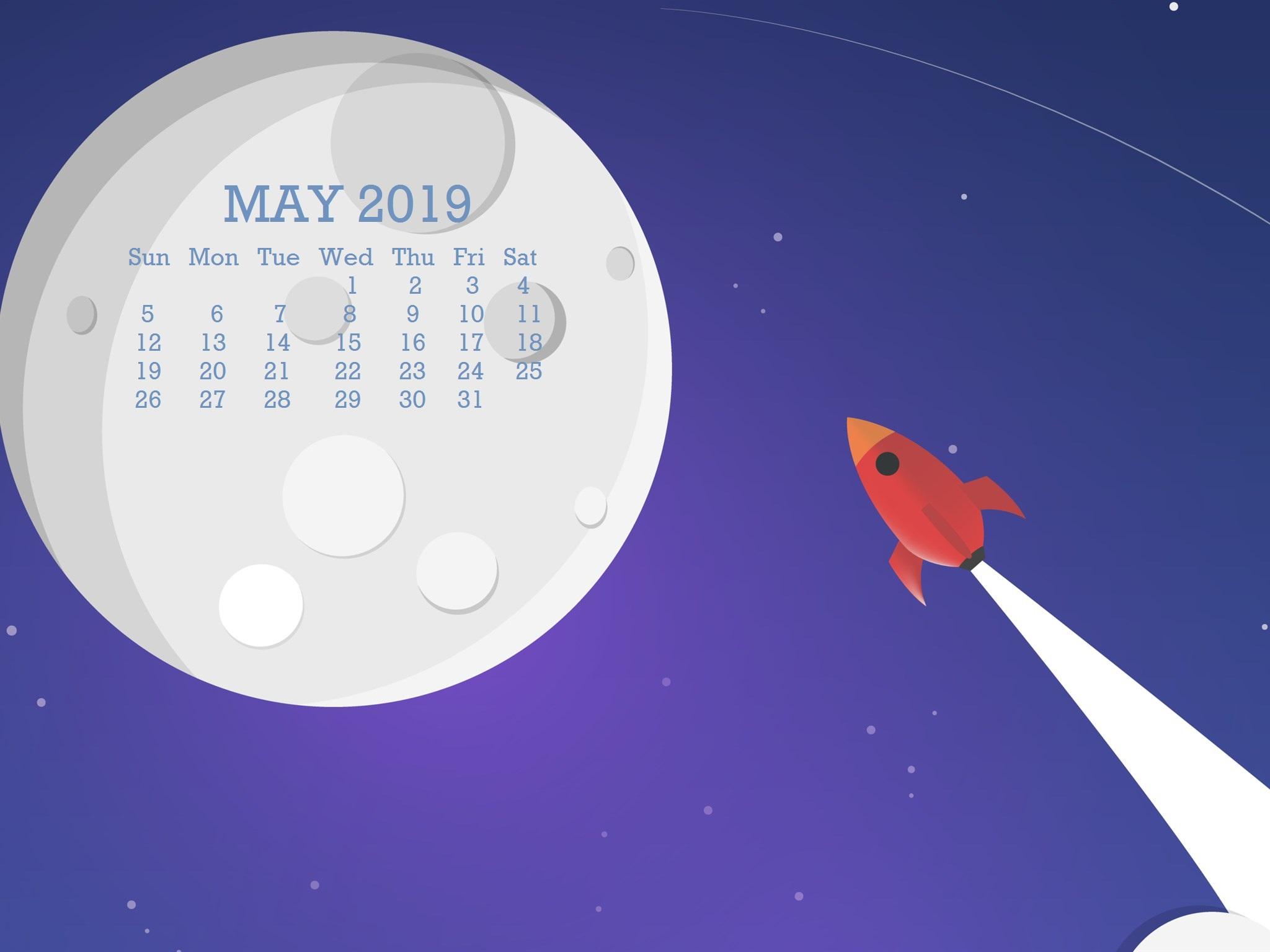 Creative May 2019 Wallpaper Calendar
