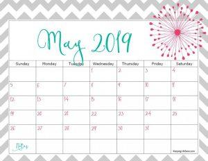 Cute May 2019 Calendar Printable