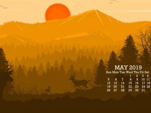 Cute May 2019 Calendar Wallpaper