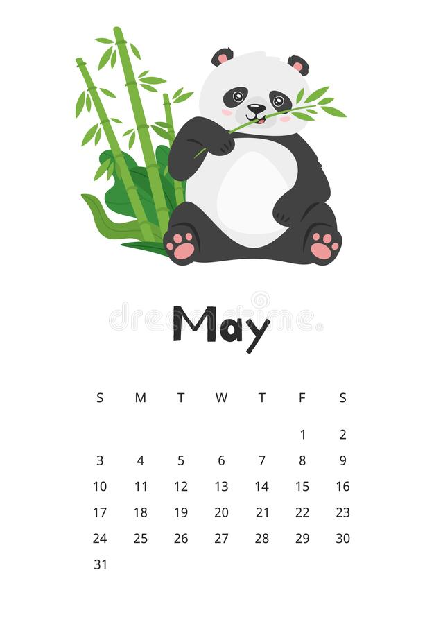 Cute May 2020 Calendar For Kids