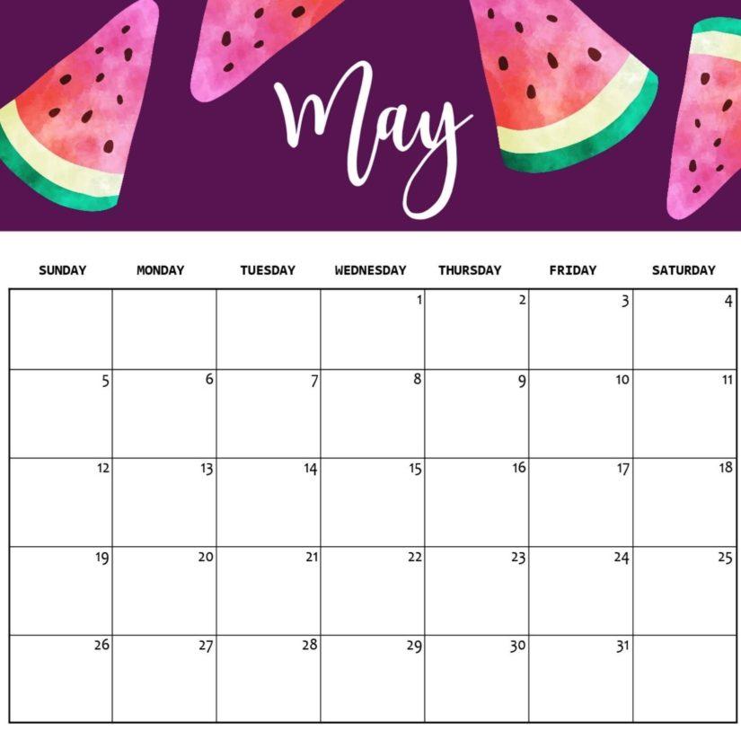 Decorative May 2020 Desk Calendar