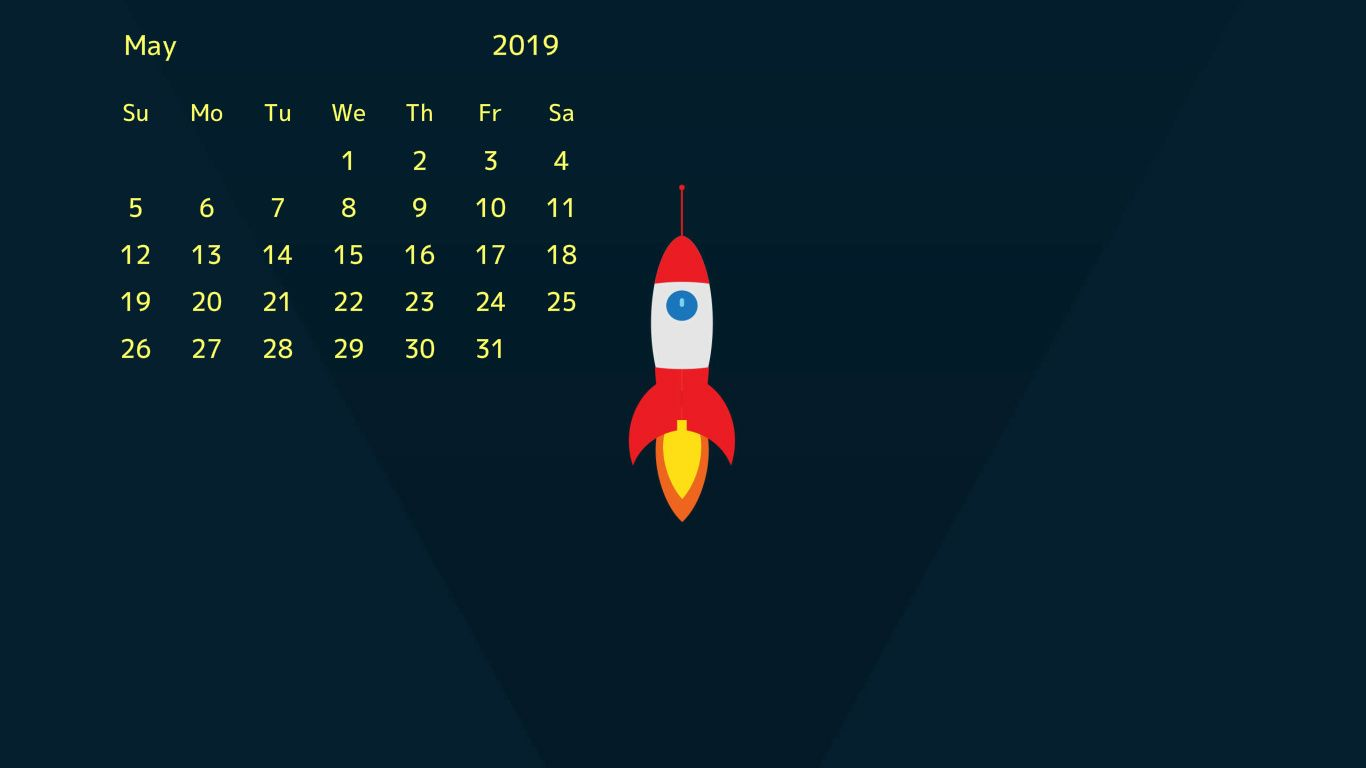 Desktop Calendar Wallpaper For May 2019