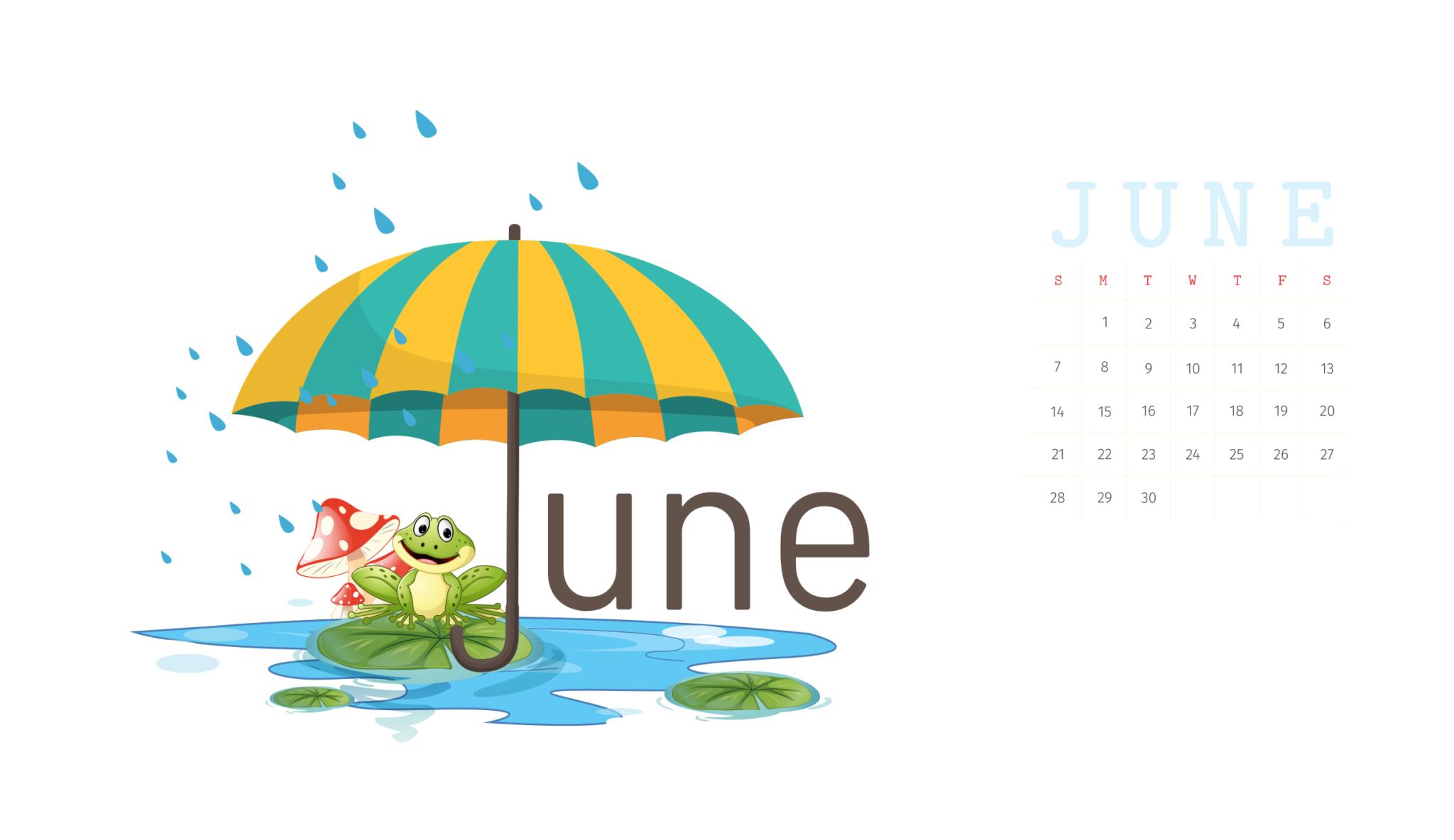 Desktop Calendar Wallpaper June 2020