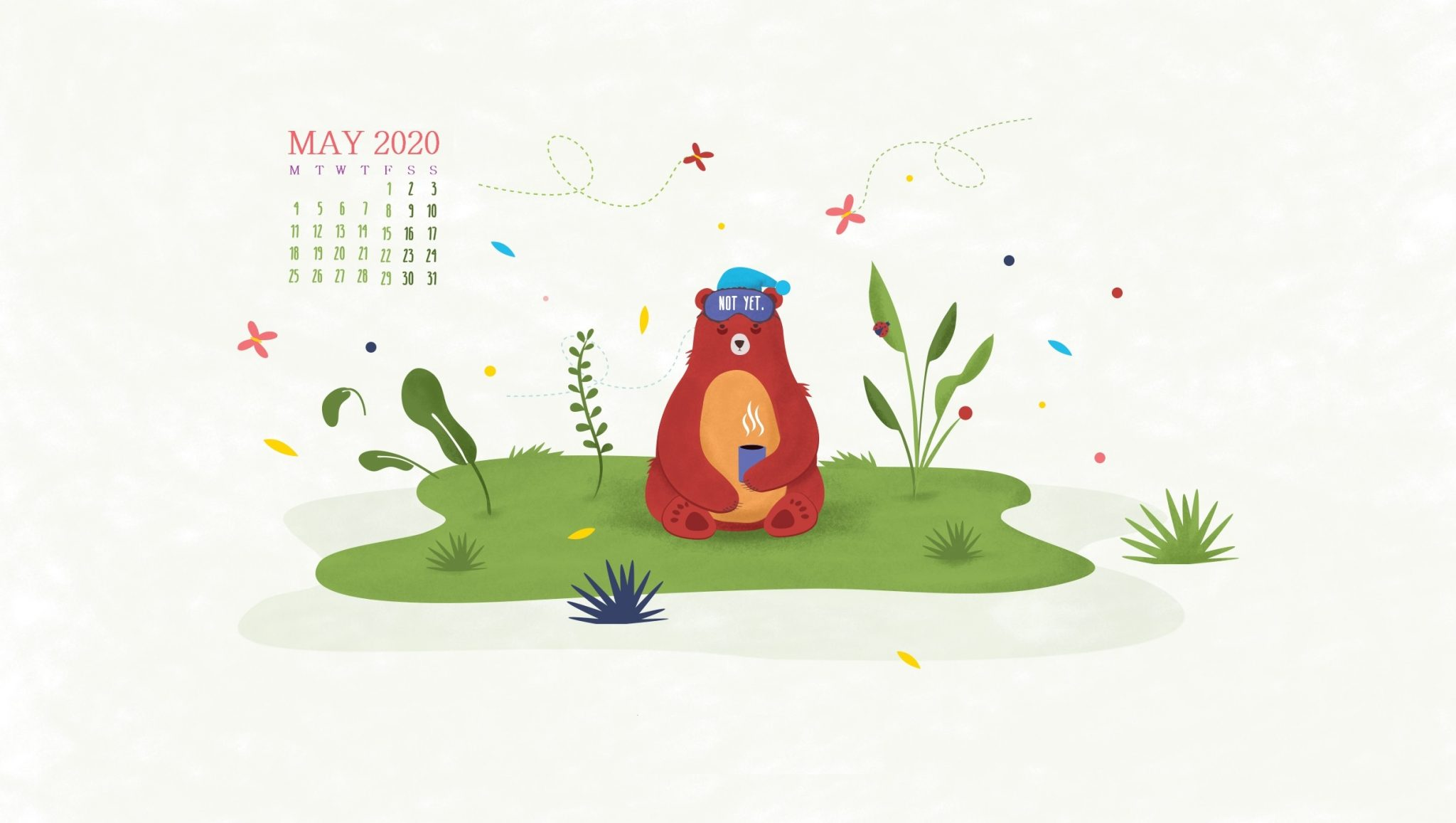 Desktop May 2020 Calendar Wallpaper