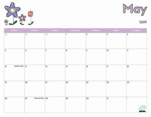 Editable May 2019 Calendar With Holidays