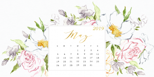 Floral May 2019 Calendar Wallpaper