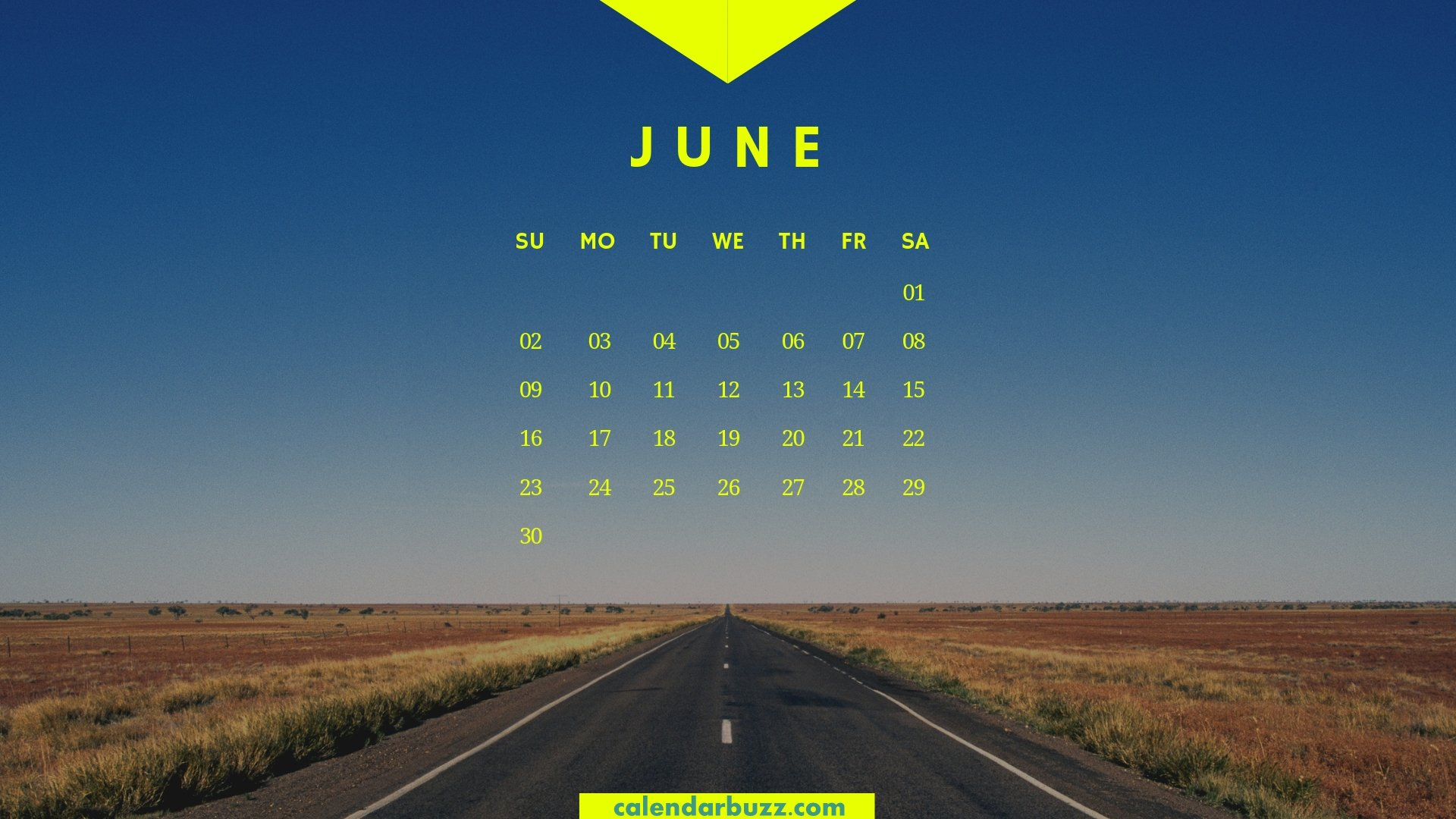 June 2019 Calendar HD Wallpaper