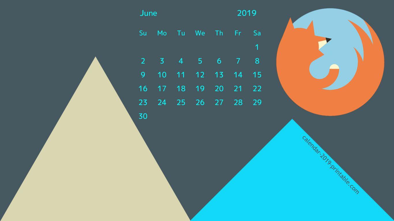 June 2019 Calendar Wallpaper for Desktop