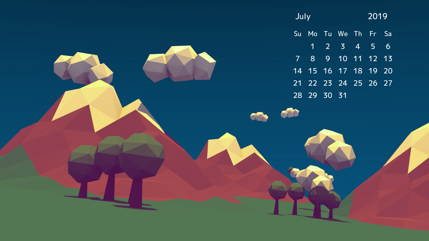 June 2019 Desktop Background Wallpaper