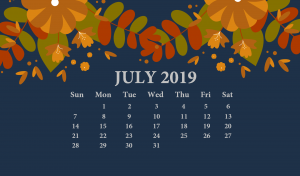 June 2019 Desktop Calendar Wallpaper