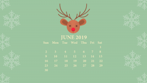 June 2019 Desktop Wallpaper With Calendar