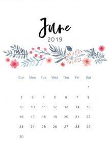 June 2019 Wall Calendar Template