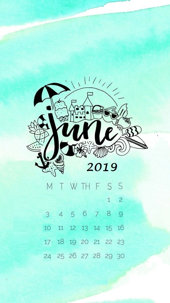 June 2019 iPhone Calendar Wallpaper