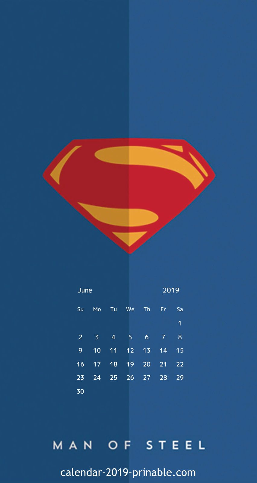 June 2019 iPhone Calendar