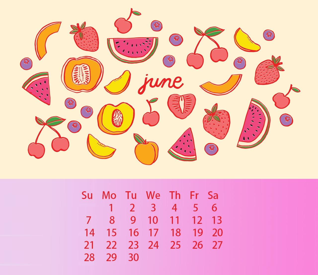 June 2020 Calendar Wallpaper