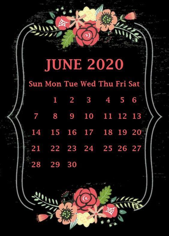 June 2020 iPhone Calendar Wallpaper