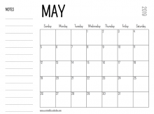 May 2019 Calendar Archives - Free Printable Calendar