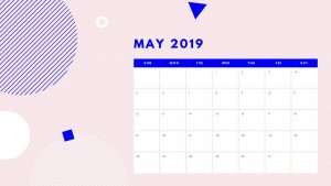 May 2019 Calendar Desktop Wallpaper