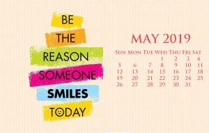 Motivation Quotes May 2019 Calendar Wallpaper