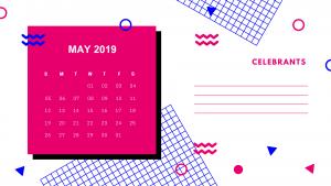 Stylish May 2019 Calendar