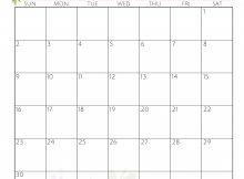 Cute June 2019 Wall Calendar