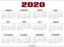 Desktop Calendar 2020 Wallpaper