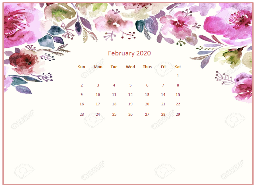 February 2020 Desktop Calendar Wallpapers