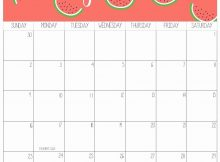 Holidays Calendar June 2019