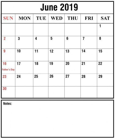 June 2019 Calendar With Holidays India