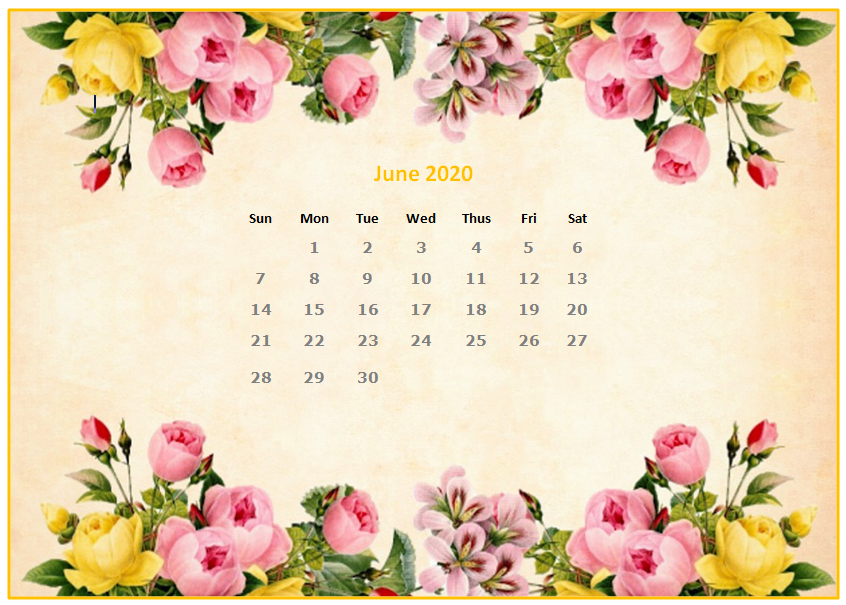 June 2020 Desktop Calendar Wallpapers