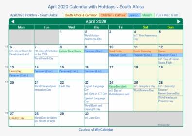 June 2020 South Africa Holidays Calendar