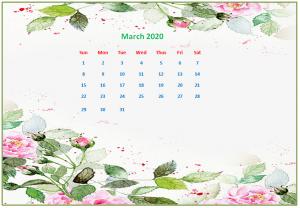 March 2020 Desktop Calendar Wallpapers