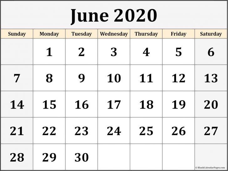Printable Editable June 2020 Calendar