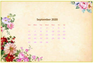 September 2020 Desktop Calendar Wallpapers
