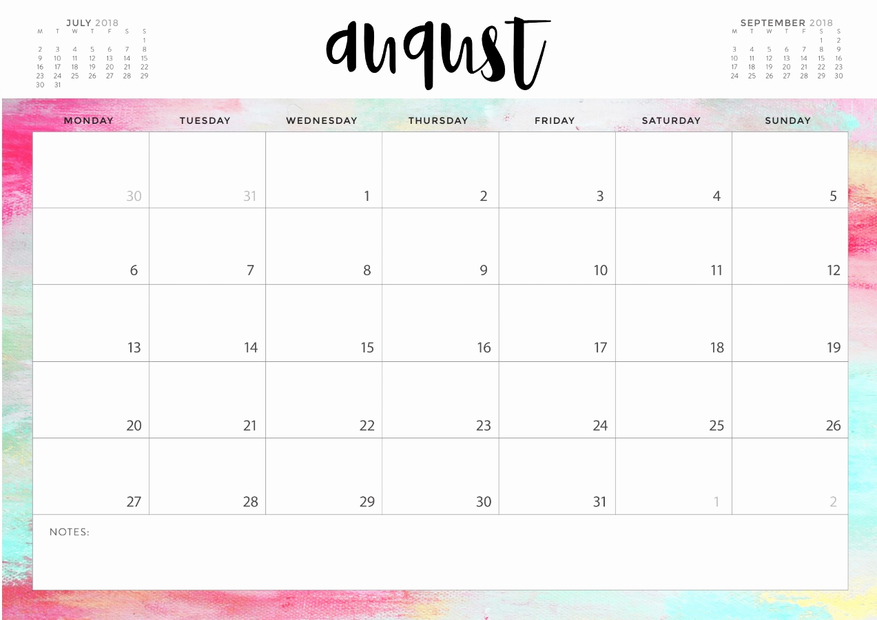 Blank Calendar Pdf August 2019.August 2019 Printable Calendar In Pdf Word Excel With Holidays