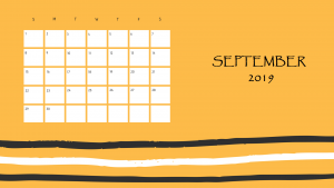 Cute Printable Calendar September 2019