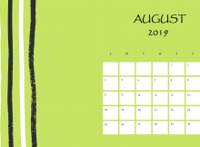 Download August 2019 Printable Calendar