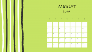 Download August 2019 Printable Calendar