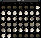 August 2020 Moon Phases Calendar