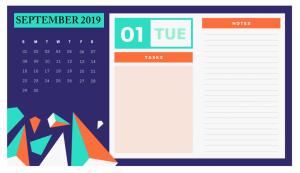 Best Cute September 2019 Calendar