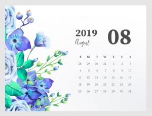 Cute August 2019 Calendar Wallpaper
