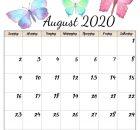 Cute August 2020 Calendar Printable