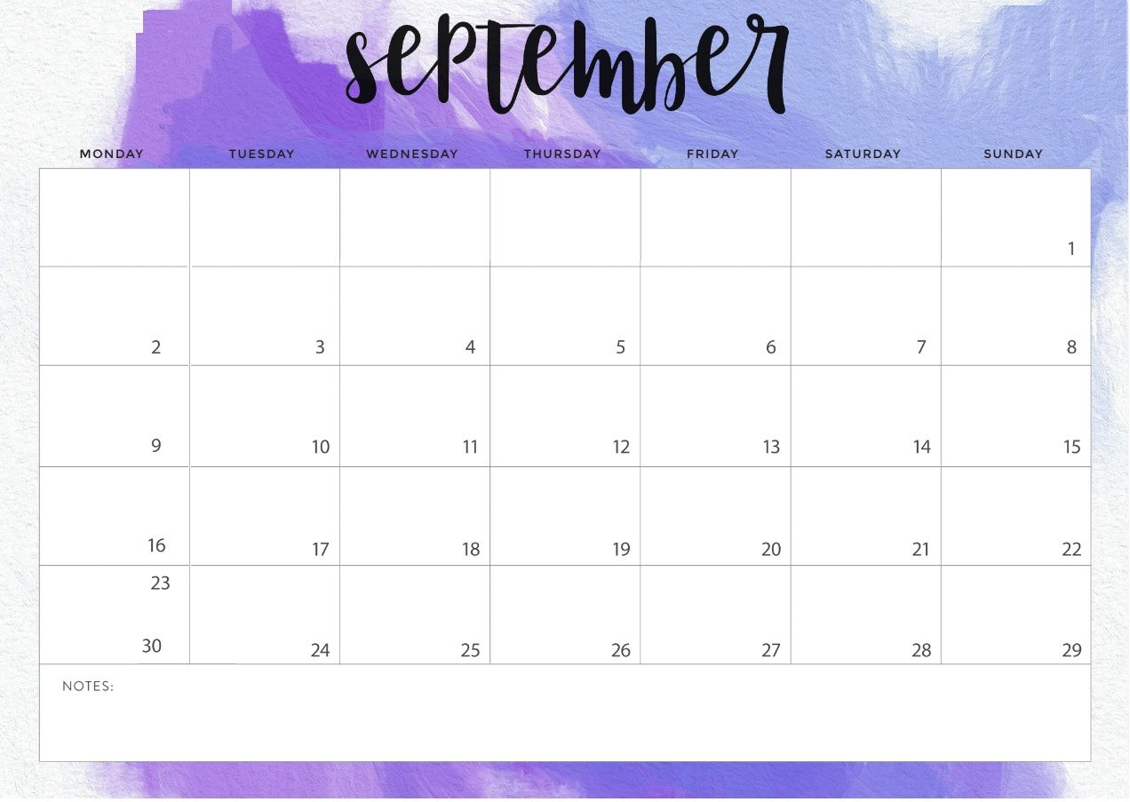 Cute September 2019 Desk Calendar