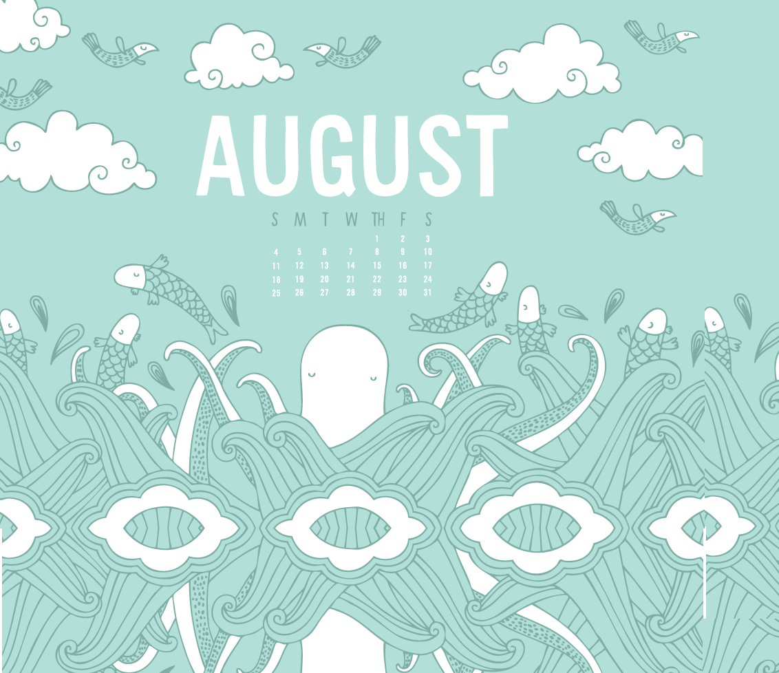 Desktop Background August 2019 Calendar