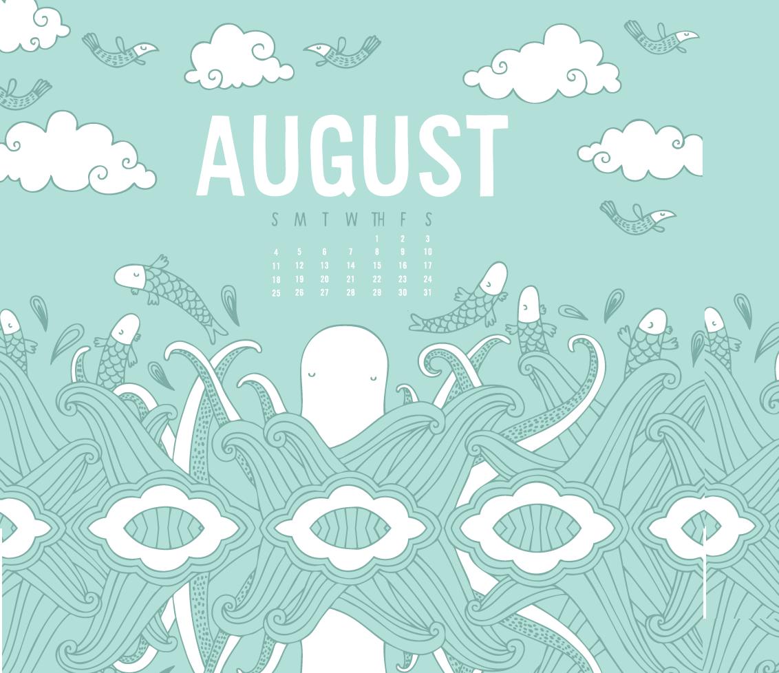 Desktop Background August 2019 Calendar
