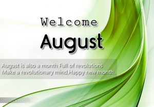 Welcome August Quotes Images
