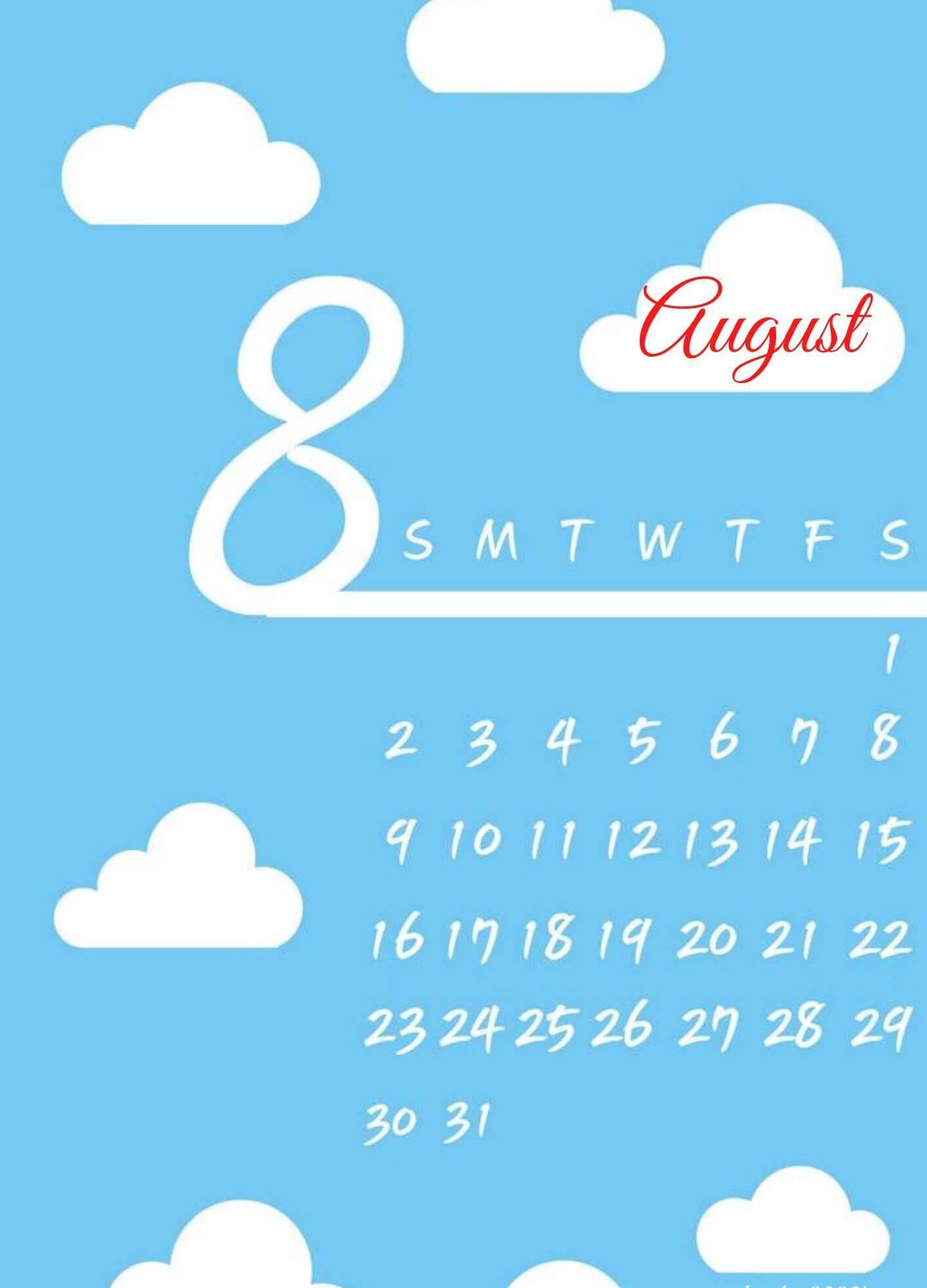 iPhone August 2020 Calendar Wallpaper